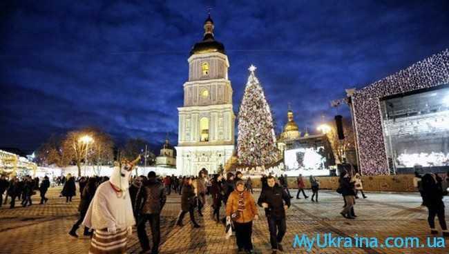 Новый 2017 год в Киеве