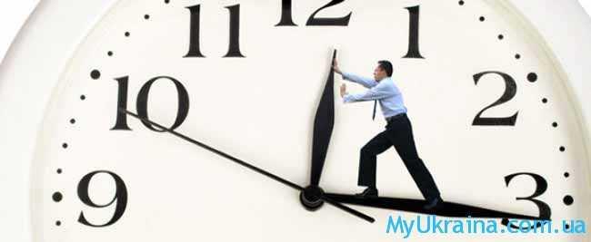 перевод времени на часах