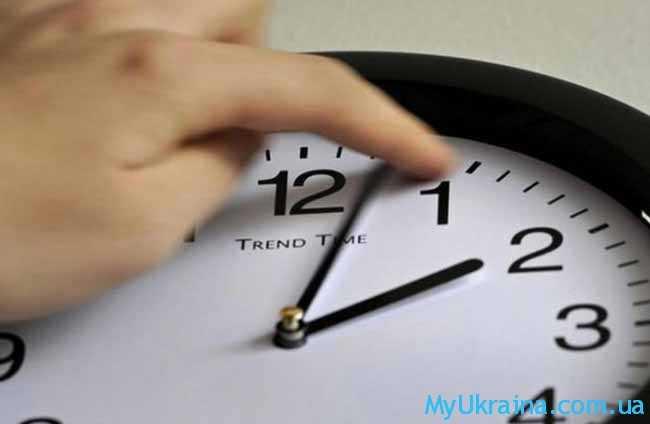 перевод времени в Украине