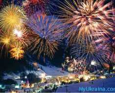 фейерверк во время Нового Года