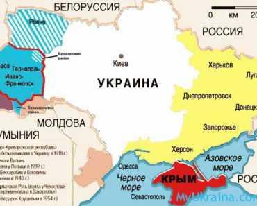 Украина на карте