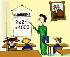 учитель рассказывает детям об инфляции