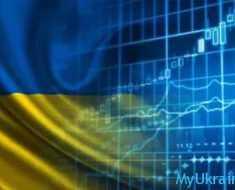 флаг Украины и диаграммы