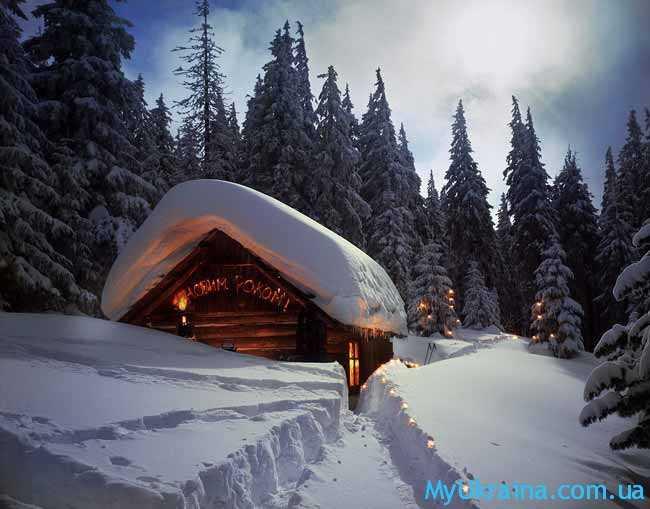 сказочный зимний домик