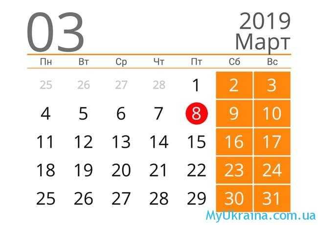 март 2019 года