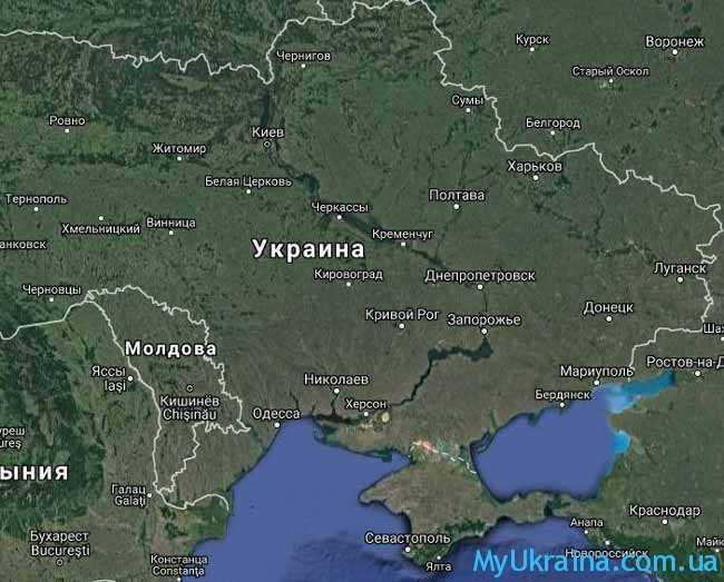 Как выглядит карта Украины 2017