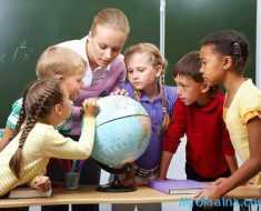 учитель и дети