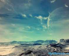 красивая поверхность луны