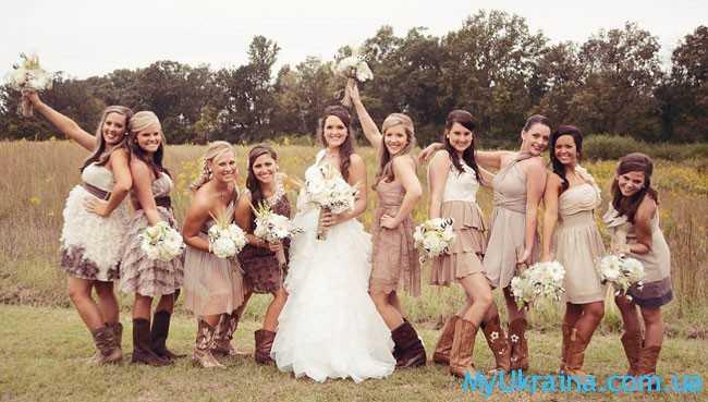 подружки с невестой
