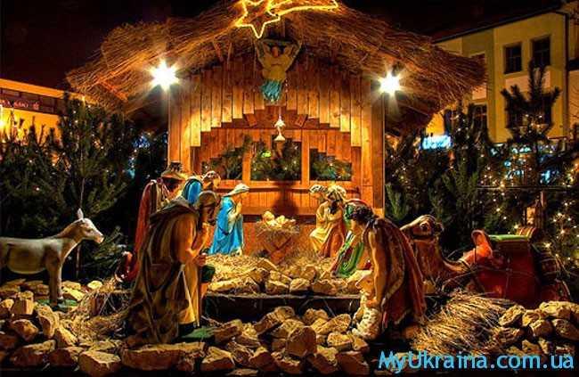 фигуры Богоматери, Иосифа, ангелов, пастухов, осла и быка