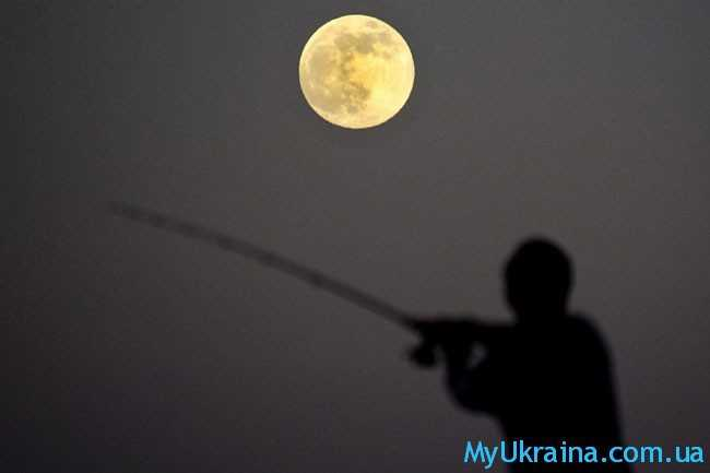 рыбак и луна