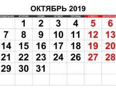 октябрь 2019 года