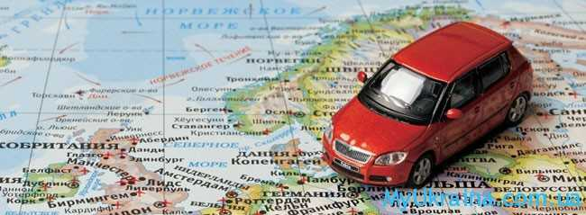 карта и машина