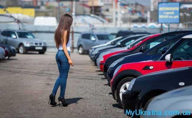 девушка и машины