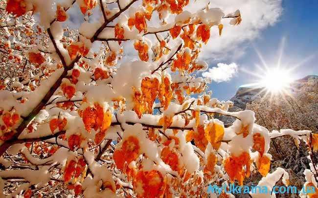 ноябрь связан с переменчивостью погодных условий