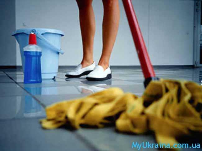 уборщица на работе
