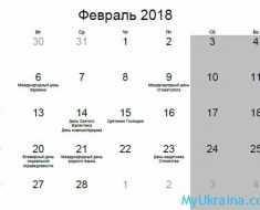 праздники в феврале 2018 в Украине