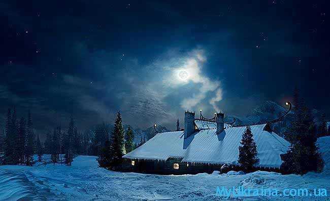 лунная зимняя ночь