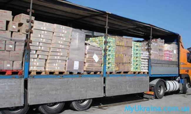 товары на территории Украины