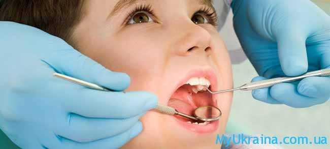 мальчик и стоматолог