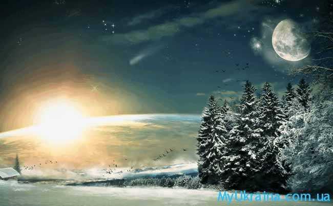 на небе властвует растущее ночное светило
